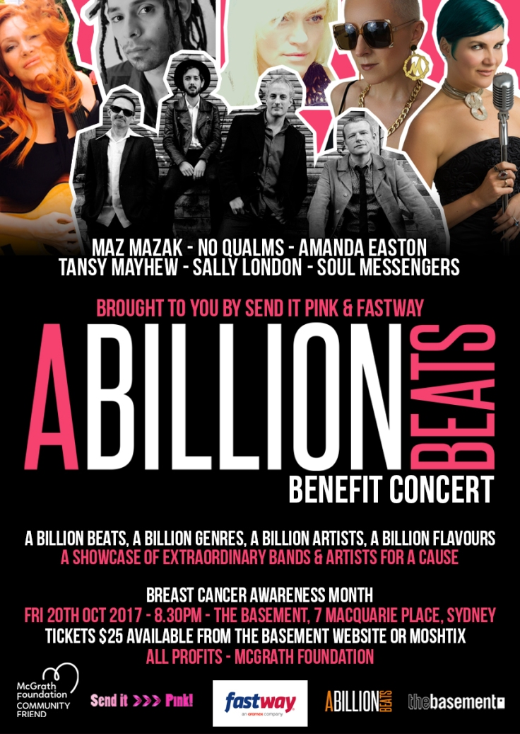 A Billion Beats Benefit Concert 2017 Poster
