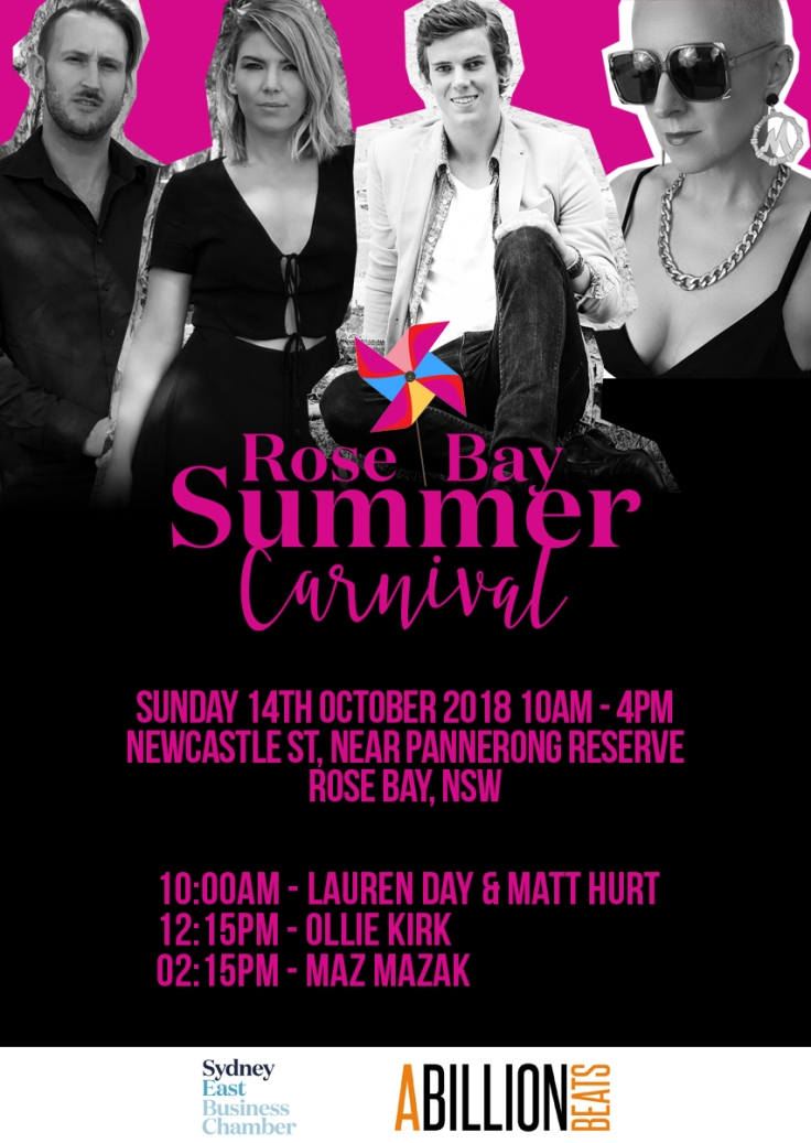 Rose Bay Summer Carnival Poster 2018